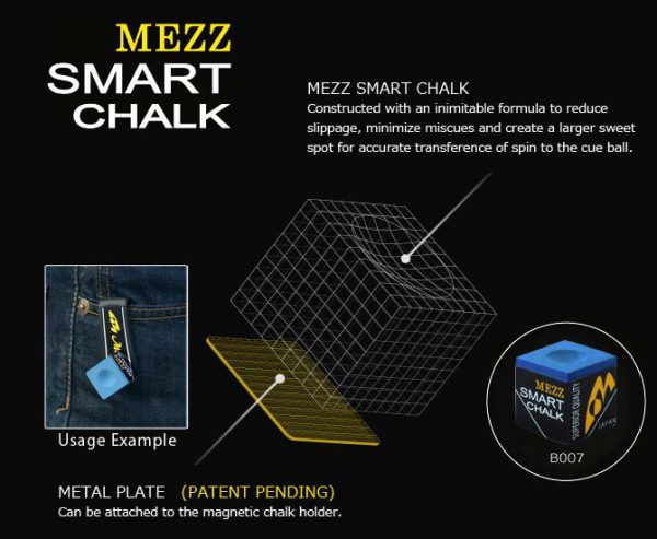 Kreda do bilarda Mezz Smart Chalk